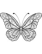 Zentangle Butterfly Coloring page | Butterfly coloring