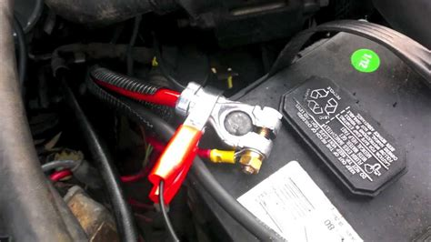 Cherokee Battery Cable Replacement Youtube