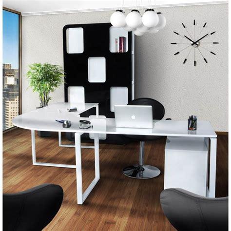bureaux d angle bureau d 39 angle design fidji en bois laqué et métal peint