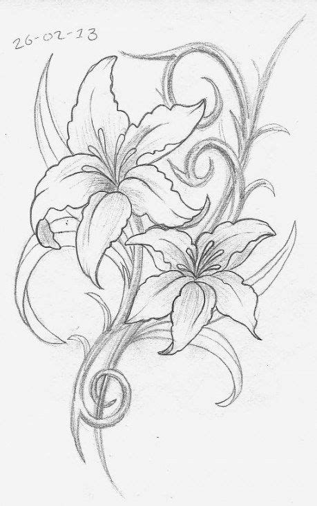 Pin by Wallpaper Flower on Wallpaper Flower | Lily tattoo design, Flower tattoos, Tattoo designs