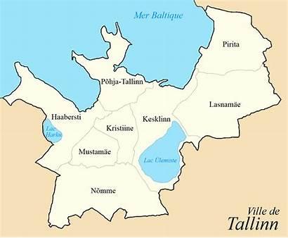 Tallinn Huit Quartiers Cartograf Carte Avec Estonie
