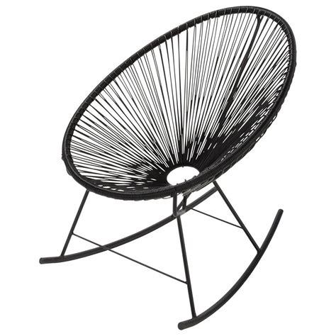 fauteuil 224 bascule de jardin noir copacabana maisons du