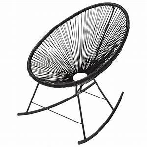 Fauteuil Suspendu Maison Du Monde : fauteuil bascule de jardin noir copacabana maisons du ~ Premium-room.com Idées de Décoration