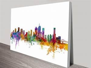 Brisbane Australia Skyline By Michael Tompsett