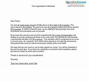 Samples of non profit fundraising letters lovetoknow for Letter to request sponsorship for an event