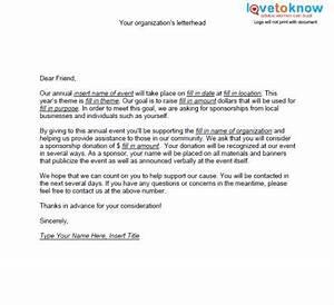 sample sponsorship request letter samples of non profit With non profit funding request letter