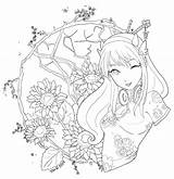 Coloring Lineart Patreon Adult Step sketch template