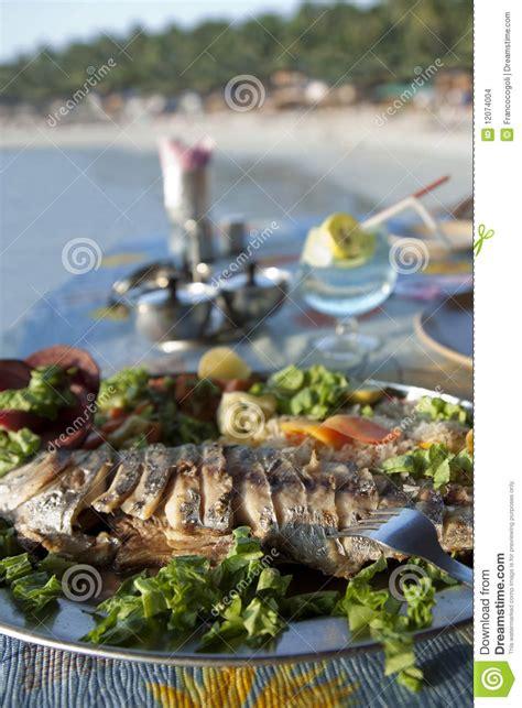 india goa king fish  palolem beach stock photo