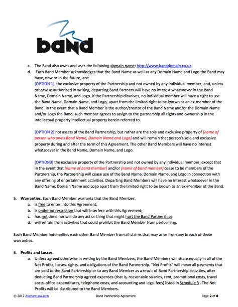Contract Template Update To Carry Note by Band Contract In An Update He Added Pricing Band