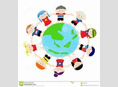 AEC Asian Kids on global stock vector Illustration of