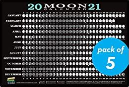 moon calendar card  pack lunar phases eclipses   long kim