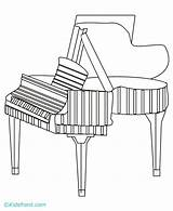 Piano Coloring Pages Print sketch template