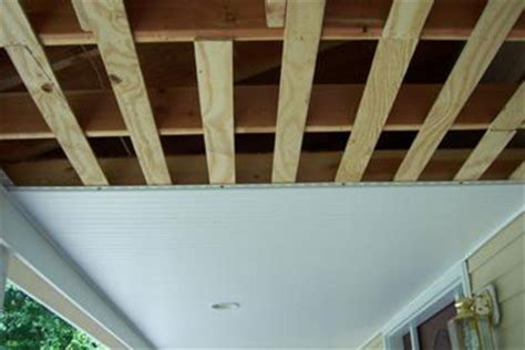 4x8 Vinyl Ceiling Panels by Install Vinyl Beadboard Ceiling On Porch