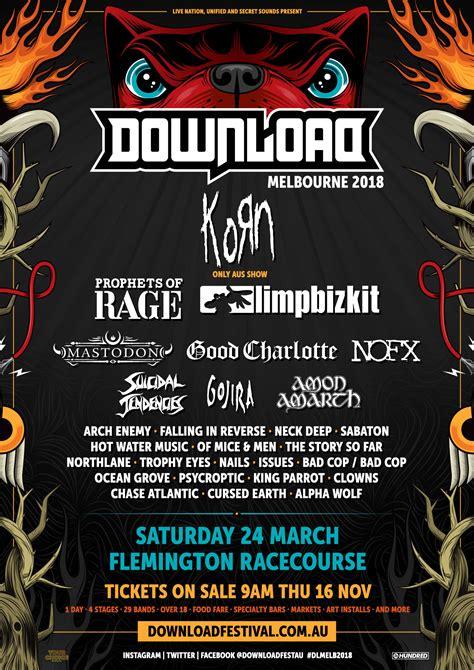 Melbourne Line Up melbourne 2018 line up is here eventalaide