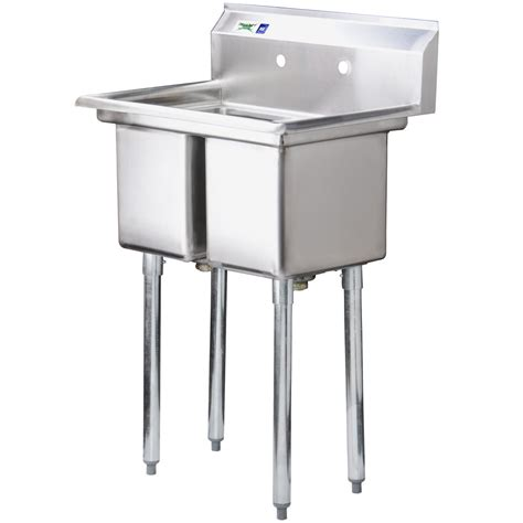 4 legs stainless steel commercial double bowl kitchen sink