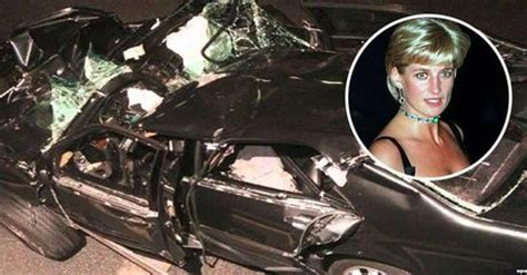 lady  la voiture accidentee de la princesse est