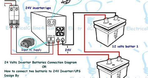 How Connect Two Batteries Inverter Volts Ups