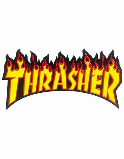 Thrasher Google Stickers Sticker Yellow Flame Aesthetic