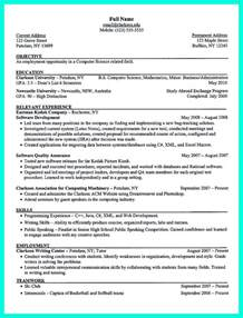 High Senior Resume Template The Resume Template To Get A