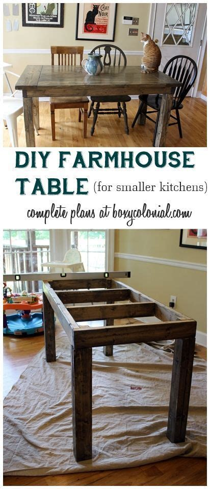 Complete Plans And Cut List To Make This Farmhouse Table