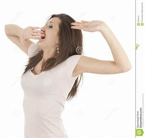 Yawning And Stretching Beautiful Girl Stock Image - Image ...