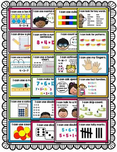 Math Strategies Posters Strategy Grade Rock 1st