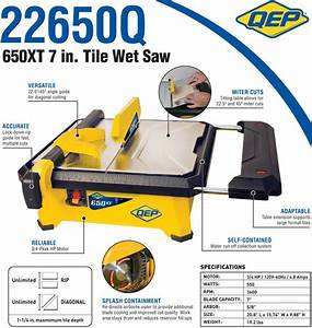 Qep 60089 Master Cut Portable Tile Saw 7 Inch
