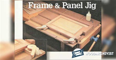 frame  panel gluing  jig woodarchivist