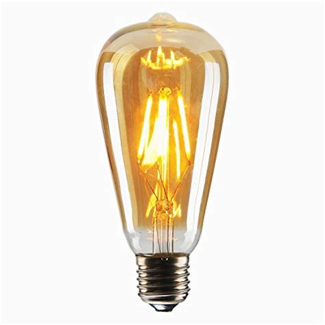 dimmable 4w st64 antique led bulb squirrel cage filament