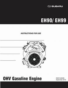 Subaru Eh90 Instructions For Use Manual Pdf Download