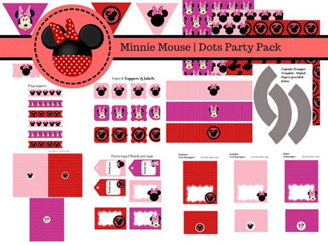 Free Minnie Mouse Party Printable Package  Baby Shower Ideas  Themes Games