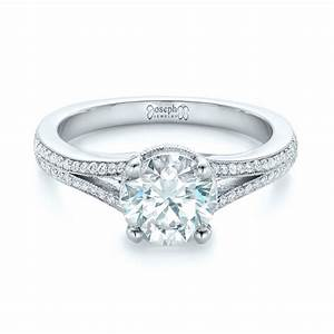Custom diamond split shank engagement ring 102226 for Split shank engagement ring with wedding band