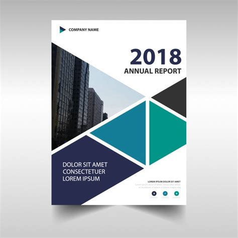 free annual report modern corporate annual report design vector free download