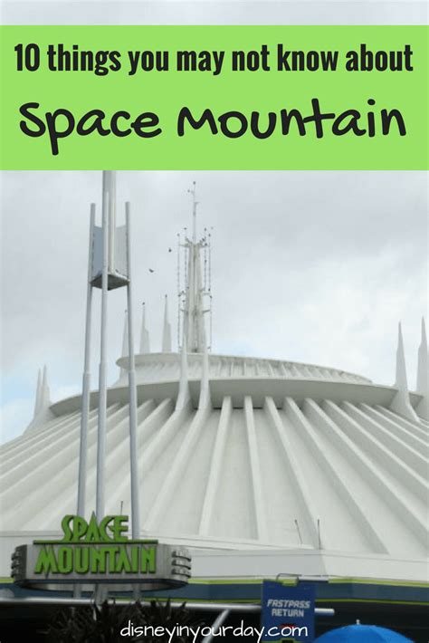 10 things you may not know about space mountain disney