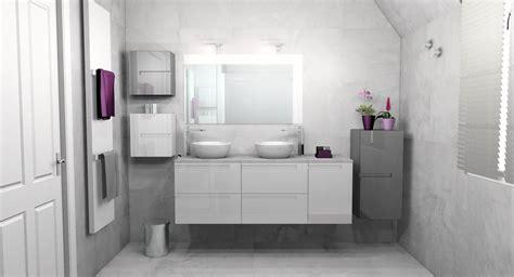 salle de bain gris clair meuble salle de bain gris vasque