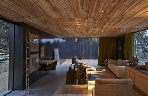 canape cuir contemporain 21 idées déco salon aux couleurs et matériels naturels bois