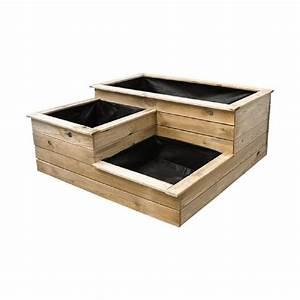 Bac En Bois Pour Potager : carr potager 3 bacs en bois achat vente carr potager ~ Dailycaller-alerts.com Idées de Décoration