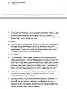 sle reports for transcription resume