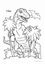 Dinosaur Coloring Worksheets English Esl Learning Activities Screen Distance Fill sketch template