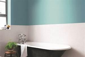 beautiful idee deco salle de bain bleu et blanc pictures With couleur salle de bain bleu