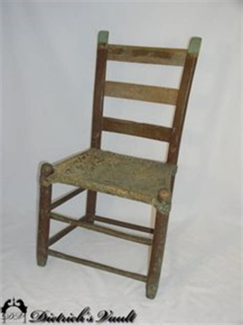 ladder back chair with rawhide seat for sale antiques