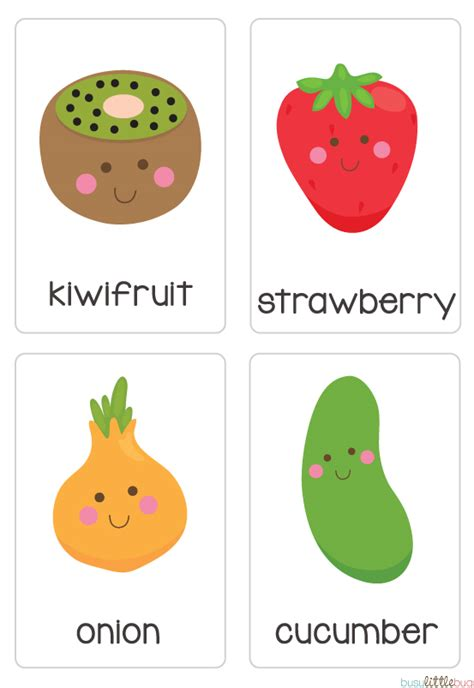 Fruit & Vegetable Flash Cards Automatic Download  Kindy  Pinterest  Early Literacy And Literacy