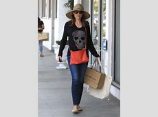 Claire Forlani in Jeans Shopping in Beverly Hills