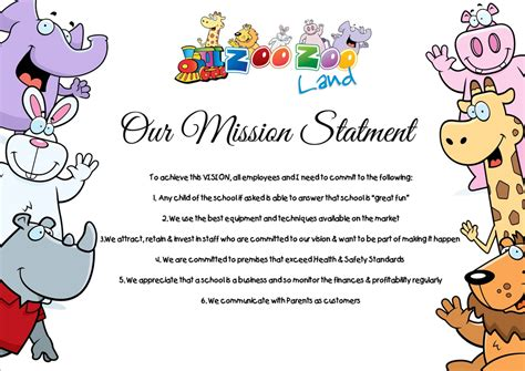 preschool mission statement examples parent book zoozoo land daycare creches in 728