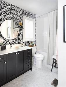 Black And White Bathroom Home Design Ideas, Pictures