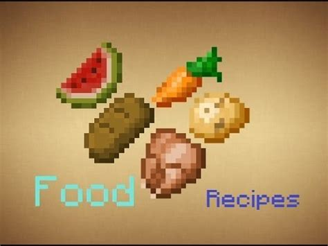minecraft food recipes updated   youtube