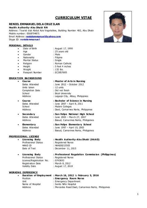 registered nurse resume sample philippines danayaus