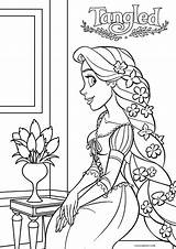 Rapunzel Coloring Tangled Pages Printable Disney Cool2bkids Colouring Princess Print Sheets Printables Entitlementtrap Marvelous Birthday sketch template