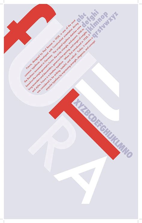 futura type specimen typography on behance