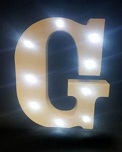 buy wooden led light up letter white g from chair cover With led light up letters
